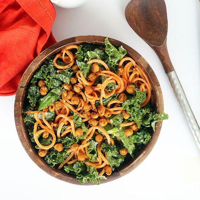 Zucchini Spaghetti, Crispy Prosciutto and Roasted Cauliflower with ...
