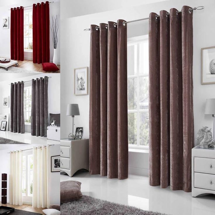 Cream and black curtains