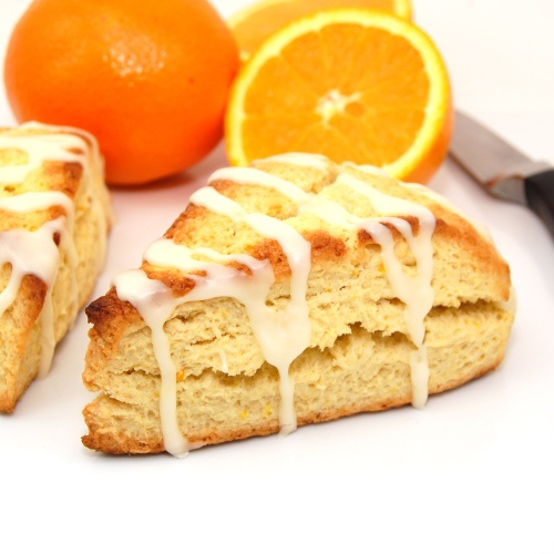 Sweet Pea's Kitchen » Orange Scones with Coconut Orange Glaze