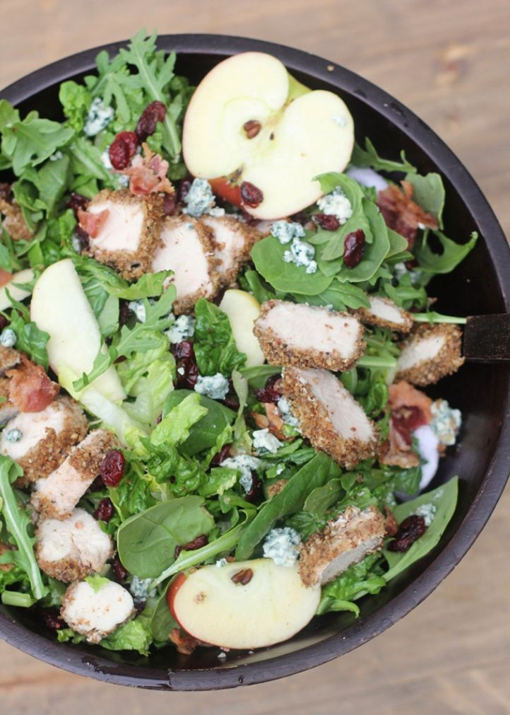 FujiApple Pecan-Crusted Chicken Salad | yummy! | Pinterest