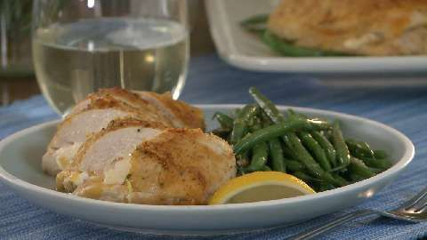 Garlic-Lemon Double Stuffed Chicken There's a video turorial with this ...