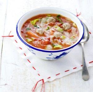 Tomatensoep ballen | Eten ♥ Soep | Pinterest