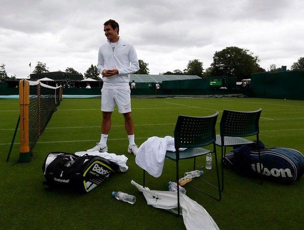 tênis roger federer treino wimbledom (Foto: Agência Reuters)