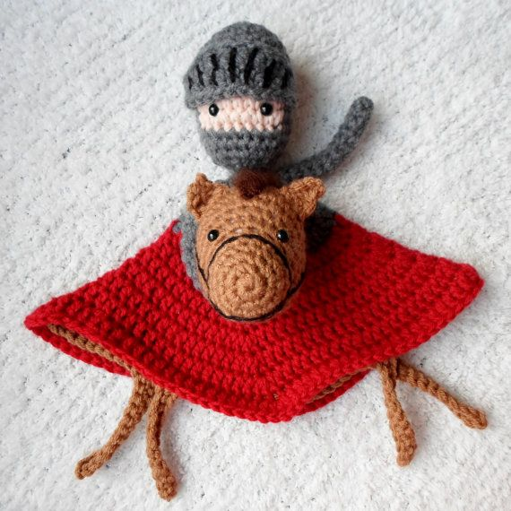 Crochet Lovey : Knight Lovey Crochet Amigurumi Pattern PDF INSTANT by AlaSascha