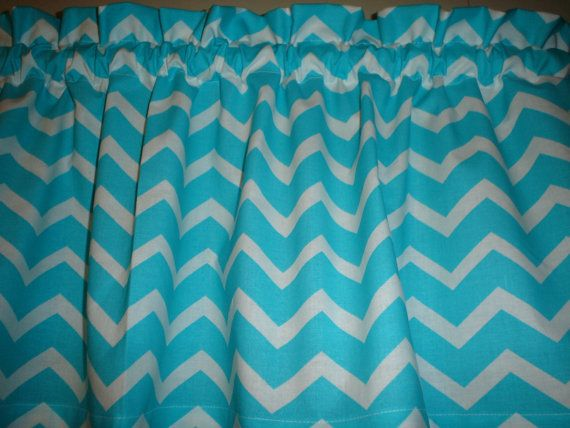 Turquoise Chevron Zigzag Stripe Window Curtain by valancegallery, $12 ...