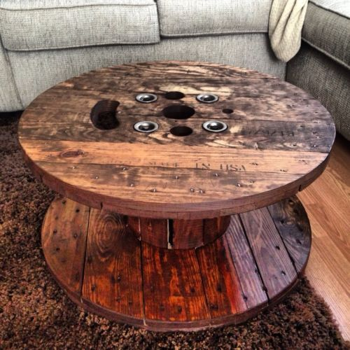 Industrial Rustic Spool Coffee Table