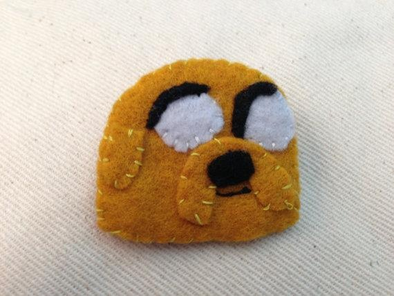 Jake the Dog from adventure time! Felt badge $7.00
