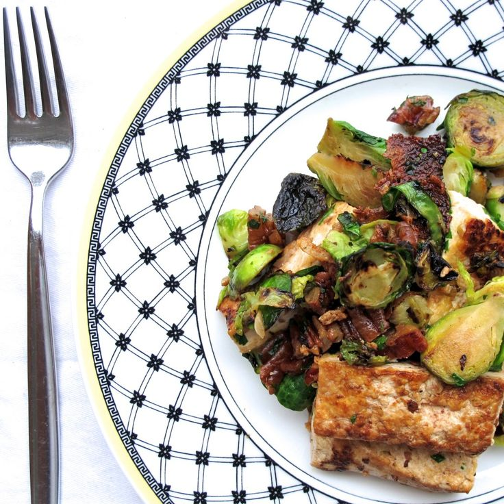 Maple Caramelized Tofu with Brussels // quick #vegan & gluten free ...