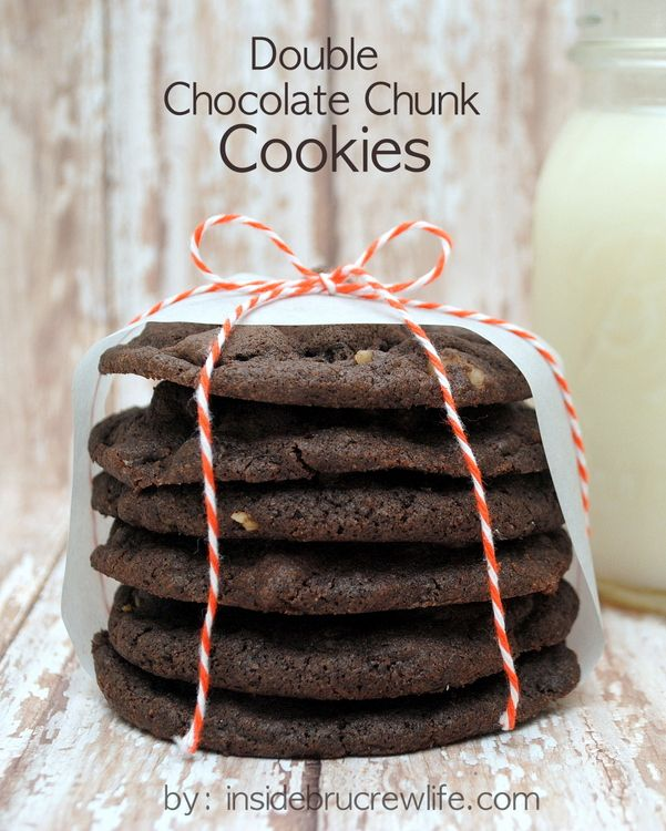 Double Chocolate Chunk Cookies - chocolate mocha cookies with ...