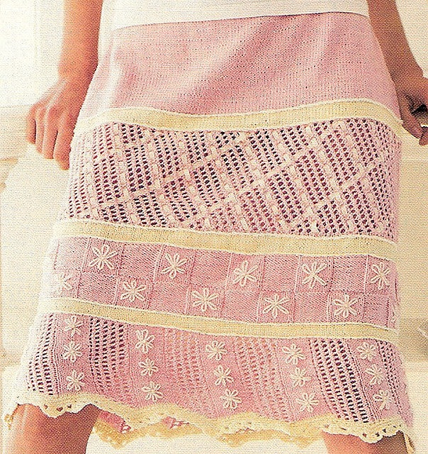 knit skirt pattern Knitting Pinterest