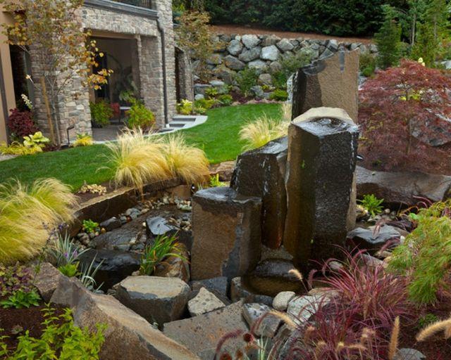 idée déco jardin aquatique  jardin aquatique et mineral  Pinterest