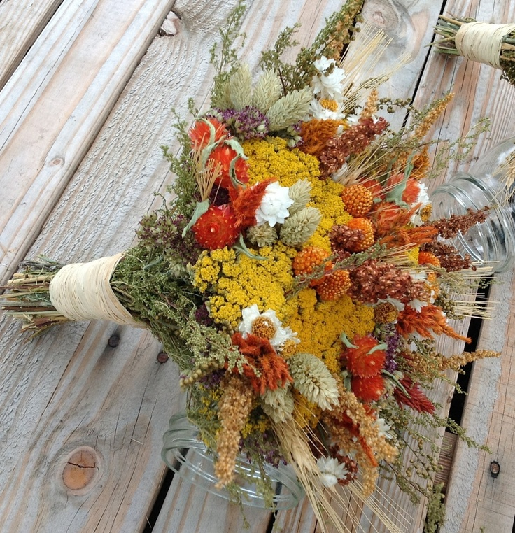 bridal bouquet dried flower wedding flowers and decor