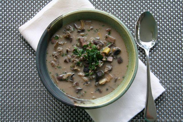 wild mushroom and navy bean soup creamy beef mushroom and wild rice ...