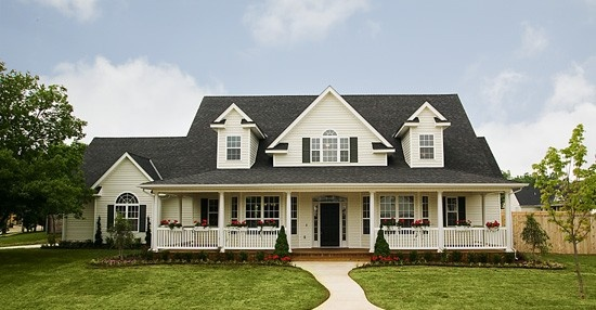 White Country House Big Porch Dream Home Pinterest
