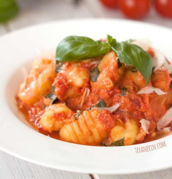 Gnocchi with Lighter Tomato Cream Sauce - this only takes a few ...