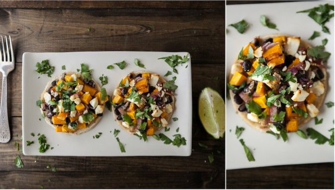 ... Butternut Squash, Black Beans, and Goat Cheese Tostadas | Naturally