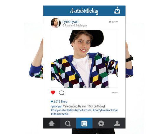 Editable instagram poster template