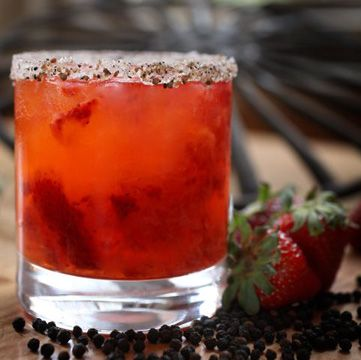 Black, Red, Sweet and Savory - strawberries, black pepper syrup ...