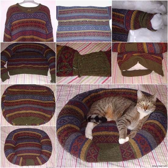 DIY Recycled Dog and Cat pet--> http://wonderfuldiy.com/wonderful-diy-recycled-dog-and-cat-sweater/