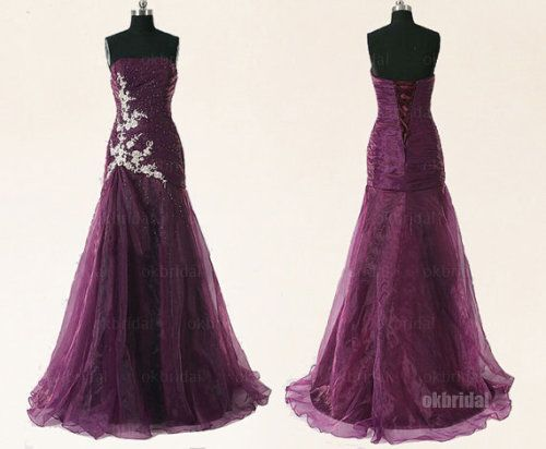 Plum Wedding Dress