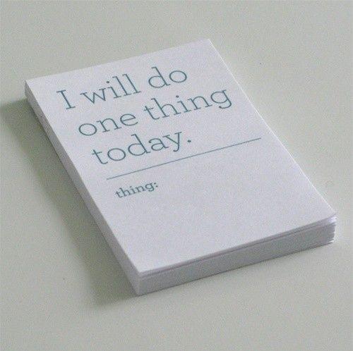 Simple goal setting.