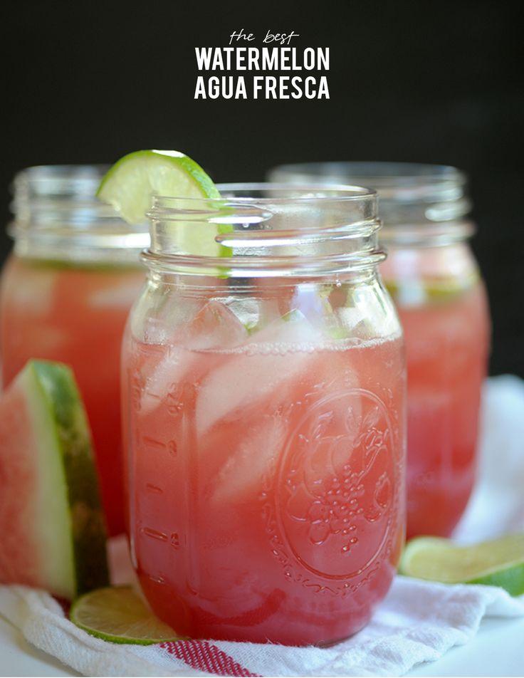Amazing watermelon agua fresca recipe // on aliceandlois.com - but ...