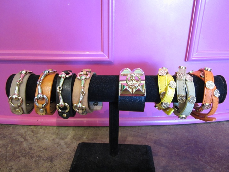 Stack 'em up! #leather #wrap #bracelets #cuff #studs #armcandy