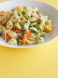 shells with cauliflower and peas | Pasta Recipes | Pinterest
