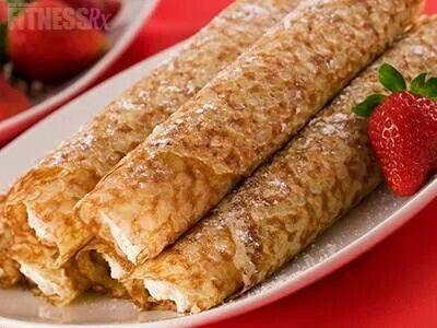 Cheesecake crepe | eat clean food | Pinterest