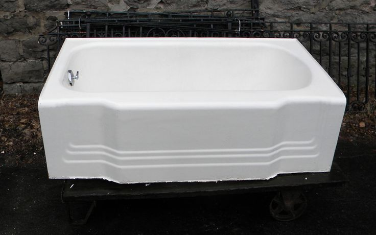 1940s style bathtub bathroom renovation pinterest for Bathtub styles types of bathtubs
