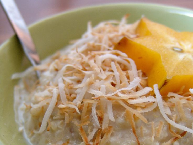 """Creamy Peaches And Coconut Quinoa """"Oatmeal"""" Recipes — Dishmaps"""
