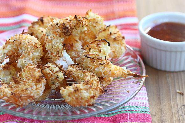Baked Coconut Shrimp with Spicy Honey Drizzle... I've made these about ...