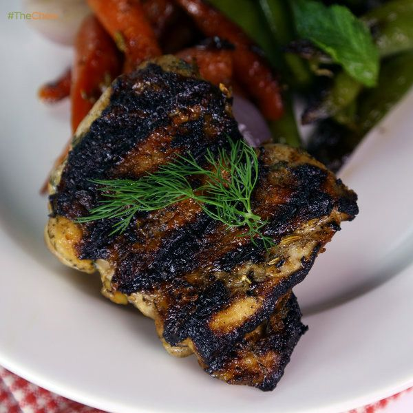 Buttermilk Marinated Grilled Chicken Thighs by Clinton Kelly! #TheChew