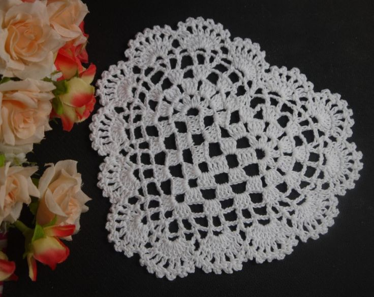 Free Crochet Pattern For Heart Doily : Pin by Renata Tothova on Crochet Pinterest