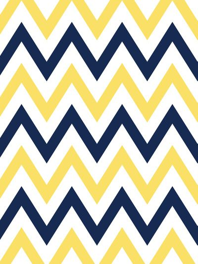 Navy & Yellow Chevron Art Print | Chevron Patterns | Pinterest