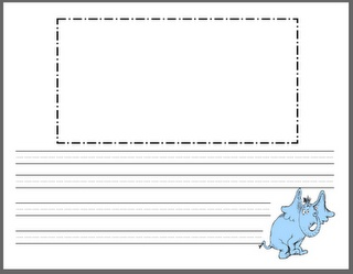Dr. Seuss Writing Paper Template