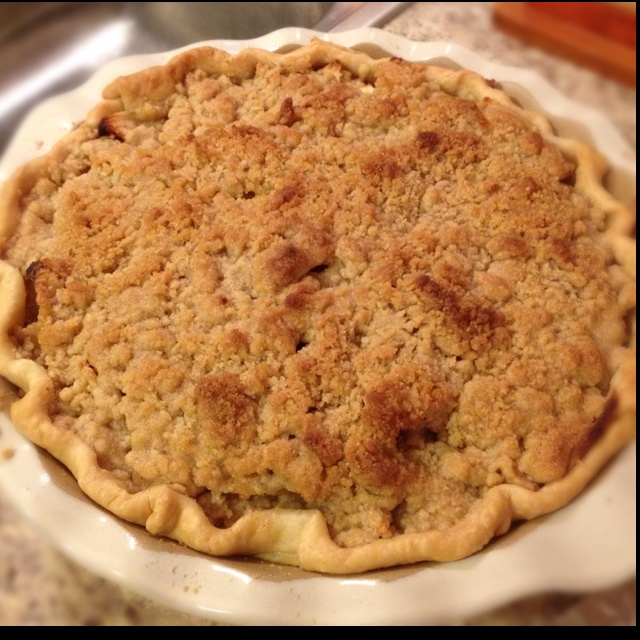 My homemade apple crumb pie   I love Food