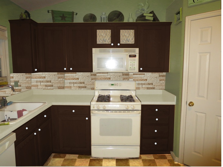 Pinterest for Green and brown kitchen ideas