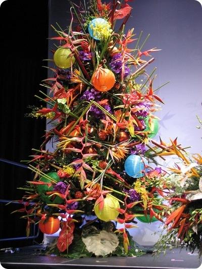 tropical Christmas tree Christmas decor