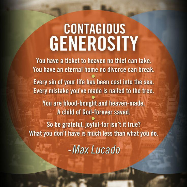 Max Lucado Inspirational Quotes Generosity