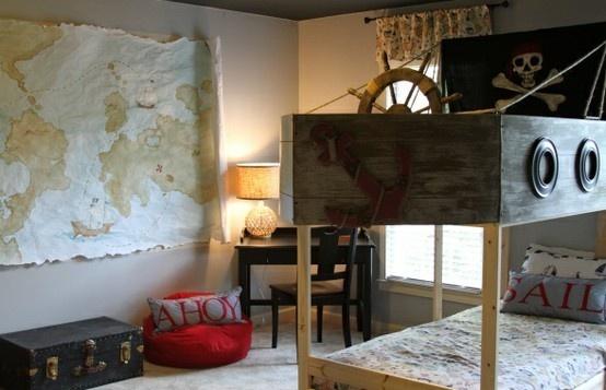 Pirate Boys Bedroom   Boy bedroom ideas   Pinterest