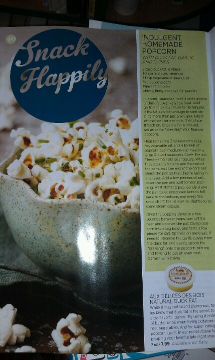 Duck fat popcorn   Holidays   Pinterest