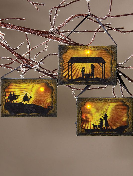 Holy Night Light-Up Ornament Set