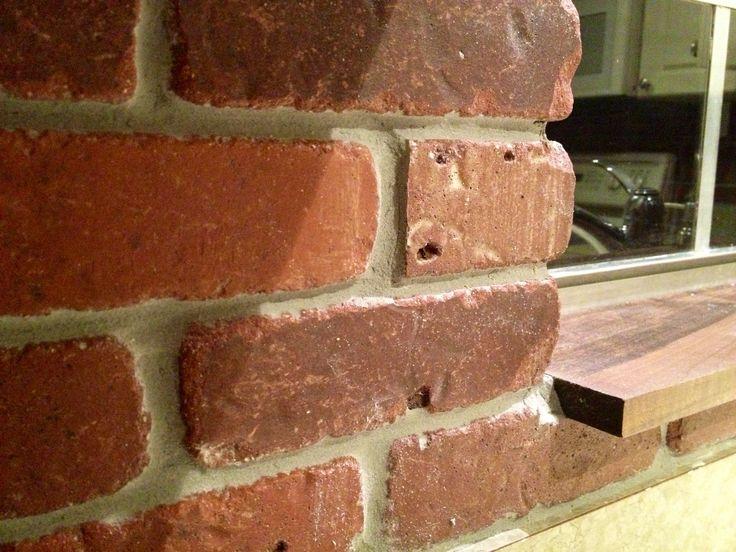 thin brick for kitchen backsplash around the house pinterest