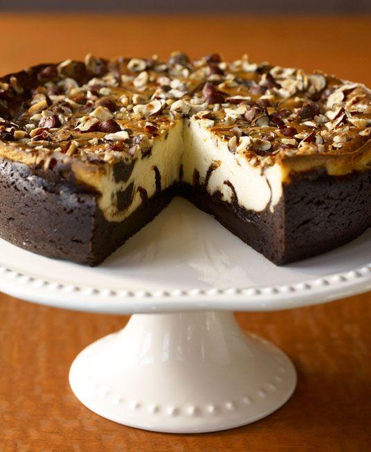 Brigit Binns - Marbled Hazelnut-Brownie Cheesecake for a Crowd