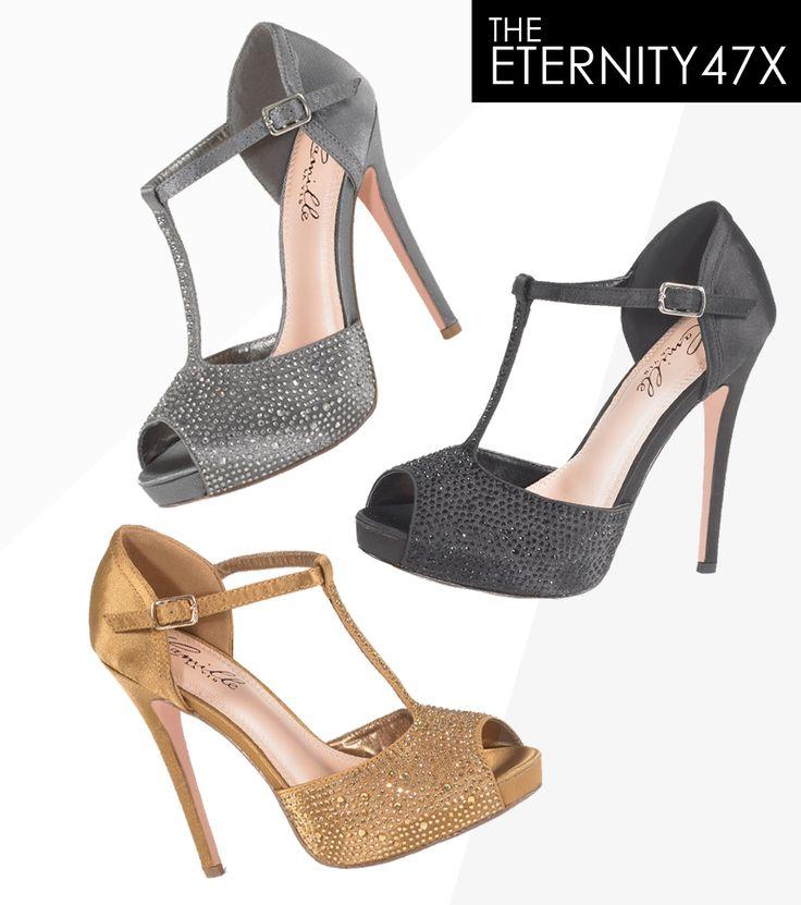 Camille La Vie t-strap peep-toe platform sandals