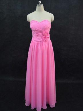 Long sweetheart pink beach wedding dress cheap beach wedding dresses