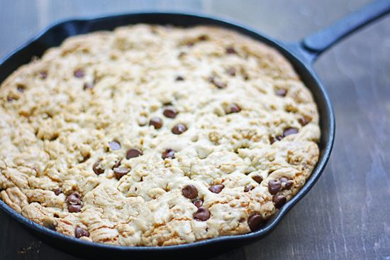 Skillet Cookie {with Chocolate Chips and/or Toffee}