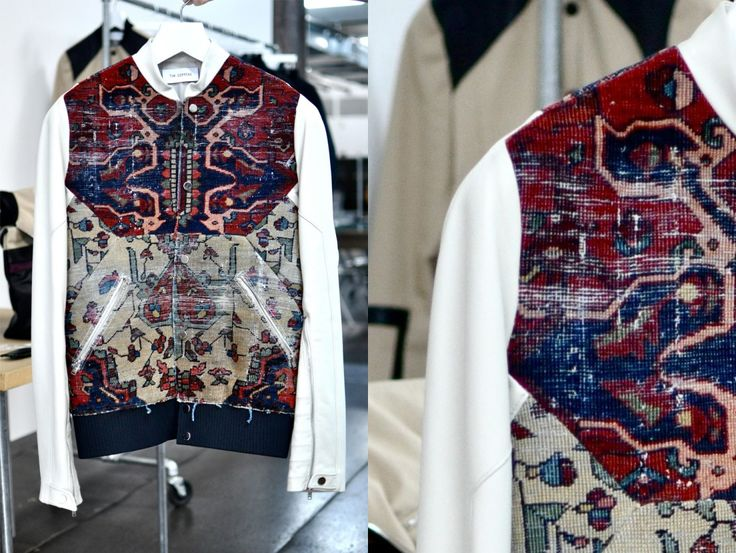 Tim Coppens Spring 2012 Persian rug jacket