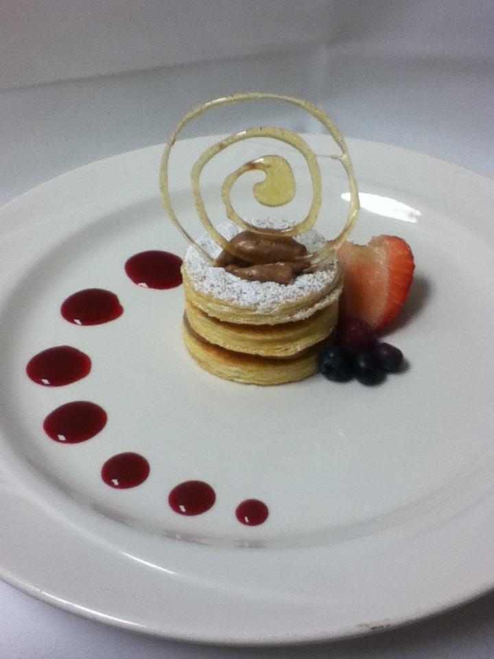 Raspberry Chocolate Napoleons Recipe — Dishmaps